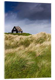 Akrylbillede  Cottage in the dunes during storm