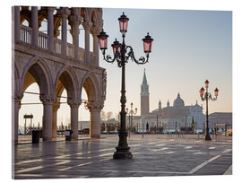 Akrylbillede  Doge palace and San Giorgio Maggiore