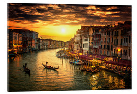 Akrylbillede  Grand Canal at sunset