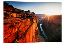 Akrylbillede  Beautiful sunrise on Grand Canyon and river Colorado, USA - Matteo Colombo