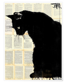 Premium-plakat Black cat