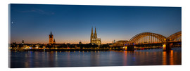 Akrylbillede  Cologne at sunset panorama - rclassen