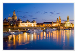 Premium-plakat Dresden at night