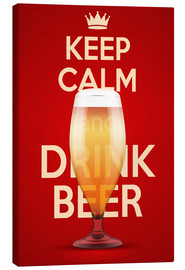 Lærredsbillede  Keep Calm And Drink Beer