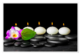 Premium-plakat spa still life with candles