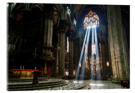Akrylbillede  Beams of Light inside Milan Cathedral