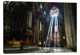 Lærredsbillede  Beams of Light inside Milan Cathedral