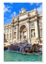 Premium-plakat Trevi Fountain under blue sky