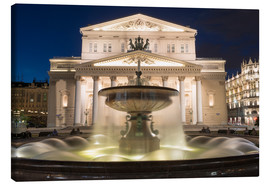 Lærredsbillede  Fountain and Bolshoi Theatre