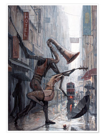 Premium-plakat  Life is a dance in the rain - Adrian Borda