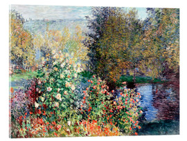 Akrylbillede  Corner of the Garden at Montgeron - Claude Monet