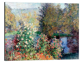Print på aluminium  Corner of the Garden at Montgeron - Claude Monet