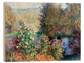 Print på træ  Corner of the Garden at Montgeron - Claude Monet