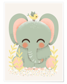 Premium-plakat Animal Friends - Elefanten