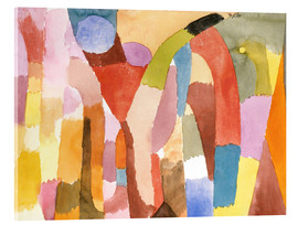 Akrylbillede  Movement of Vaulted Chambers - Paul Klee