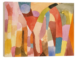 Print på træ  Movement of Vaulted Chambers - Paul Klee