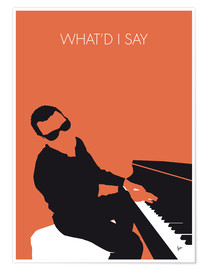 Premium-plakat What'd I say - Ray Charles