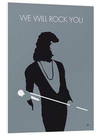Print på skumplade  We will rock you - Queen Minimal Music poster - chungkong