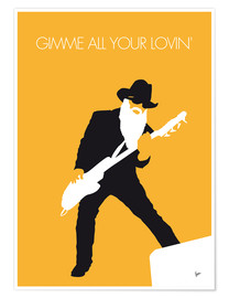 Premium-plakat Gimme all your lovin' - ZZ Top Minimal Music poster