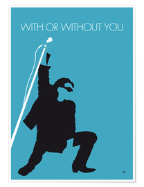 Premium-plakat With or without you - U2