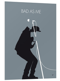 Print på skumplade  Bad as me - Tom Waits Minimal Music poster - chungkong
