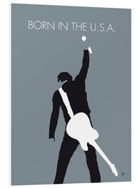 Print på skumplade  Born in the U.S.A. - Bruce Springsteen - chungkong