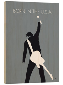 Print på træ  Born in the U.S.A. - Bruce Springsteen - chungkong