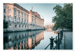 Premium-plakat Bode Museum Reflection in the River Spree