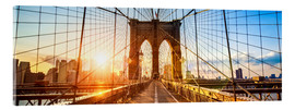 Akrylbillede  Brooklyn Bridge in New York City, USA - Jan Christopher Becke