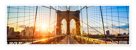 Premium-plakat Brooklyn Bridge in New York City, USA