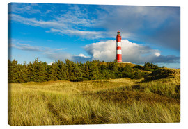 Lærredsbillede  Lighthouse on the North Sea island Amrum - Rico Ködder