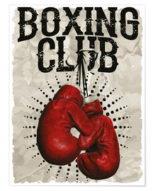 Premium-plakat Boxing Club