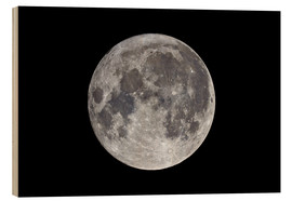 Print på træ  Super Moon November 2016 - MonarchC