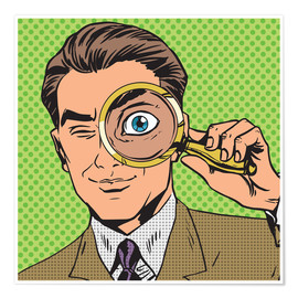 Premium-plakat Detective with magnifying glass