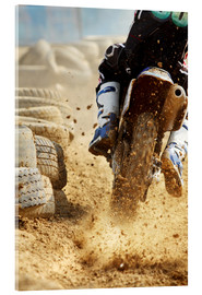 Akrylbillede  Motocross bike racing
