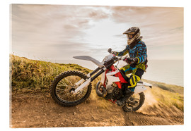 Akrylbillede  Enduro rider on the coast
