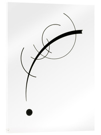 Akrylbillede  Free Curve to the Point - Wassily Kandinsky