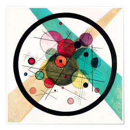 Premium-plakat  Circles in a circle - Wassily Kandinsky