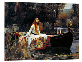 Akrylbillede  The Lady of Shalott - John William Waterhouse