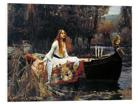 Print på skumplade  The Lady of Shalott - John William Waterhouse