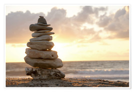 Premium-plakat  Little tower of pebbles