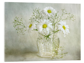 Akrylbillede  Still life with Chrysanthemums - Mandy Disher