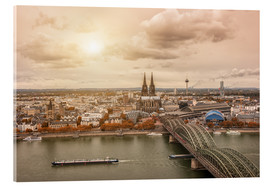 Akrylbillede  Cologne Autumn View - rclassen