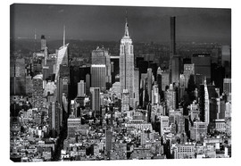 Lærredsbillede  Empire State Building, New York City (monochrome) - Sascha Kilmer