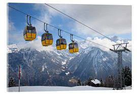 Akrylbillede  Cable car in the Alps