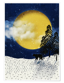 Premium-plakat winter moon