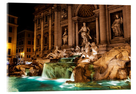 Akrylbillede  Trevi Fountain in the night - Reynold Mainse