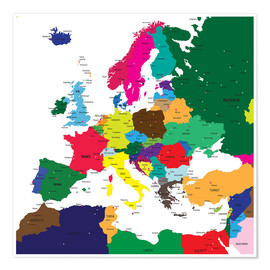 Premium-plakat  Europe - Political Map