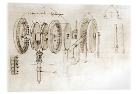 Akrylbillede  Mechanical design - Leonardo da Vinci