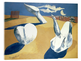 Akrylbillede  Stranded figures into the sunset - Paul Nash